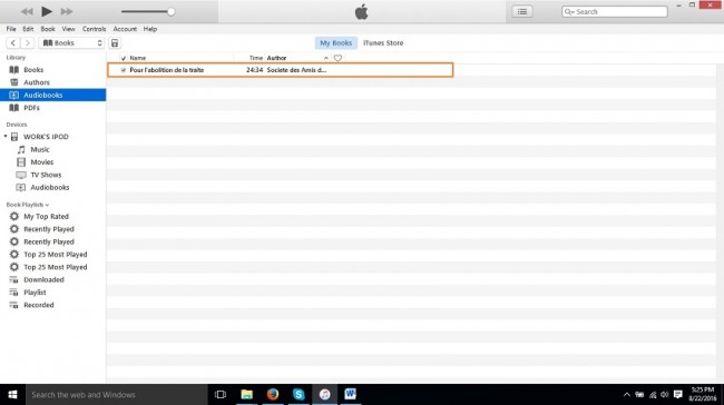 How to put audiobooks on iPod-successfully added to itunes