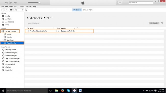 How to put audiobooks on iPod-audiobook on ipod now