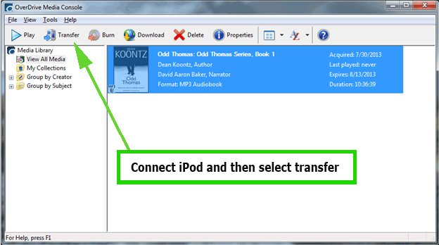 How to put audiobooks on iPod-OverDrive