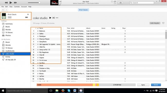 Stream music to ipod from PC-iTunes