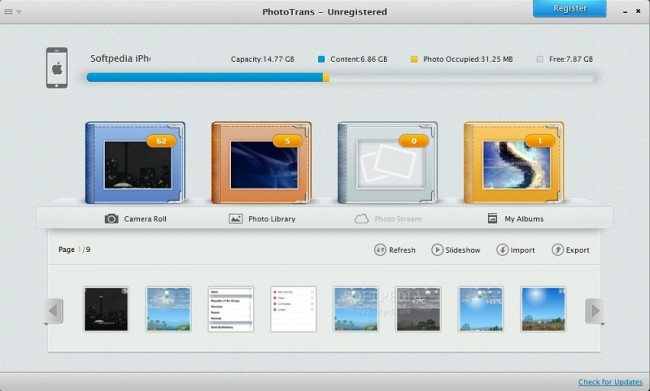 Transfer Photos from iPod touch to Mac-PhotoTrans