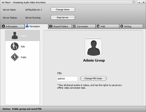 Stream music to ipod from PC-access music files