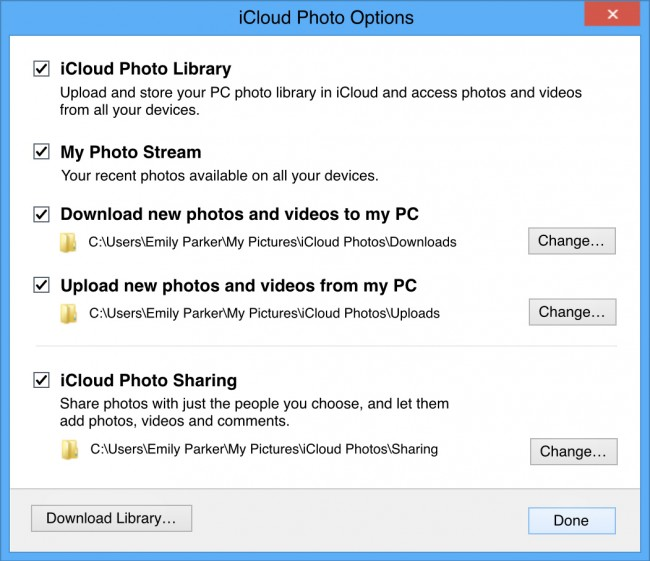 Transfer videos from ipod Touch to computer-check icloud photo library