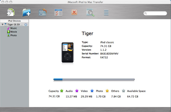 iPod to Mac Transfer Tool - iMacsoft iPod to Mac Transfer