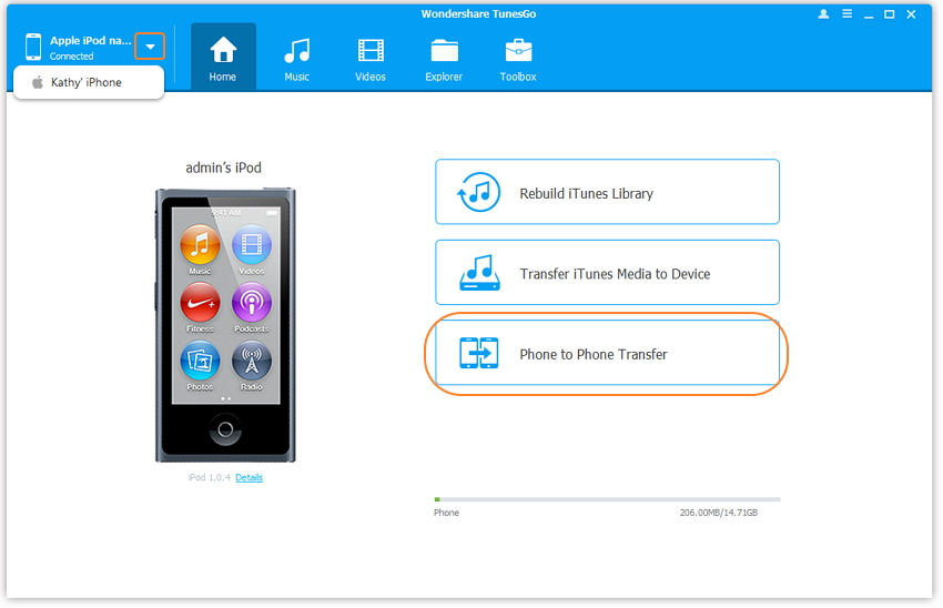 How to transfer photos from ipod touch to computer-Transfer Photos from iPod Touch to iPhone with TunesGo -Download and install TunesGo