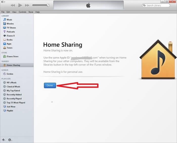 Share ipod music-itunes homes sharing4