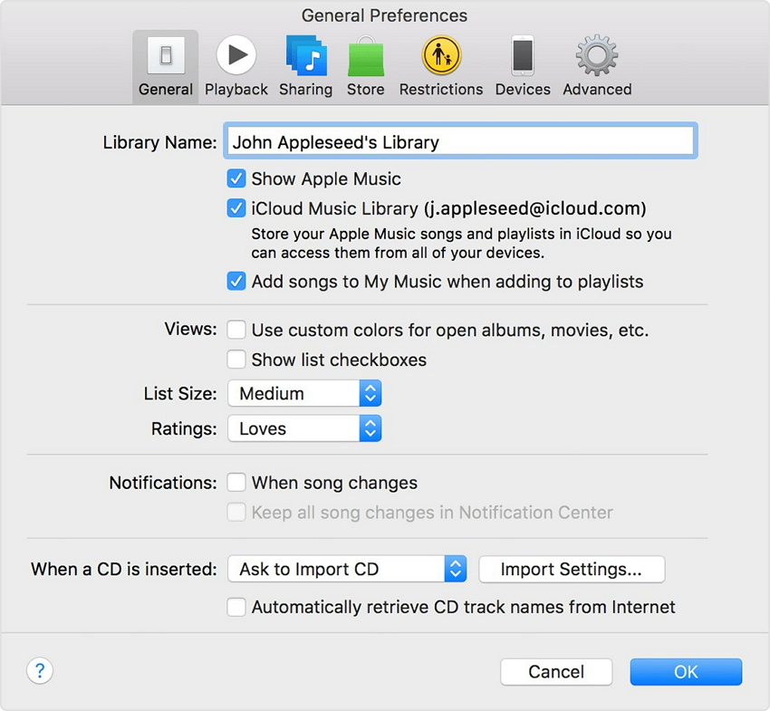How to transfer non purchased music from ipod to computer-iTunes Match preferences