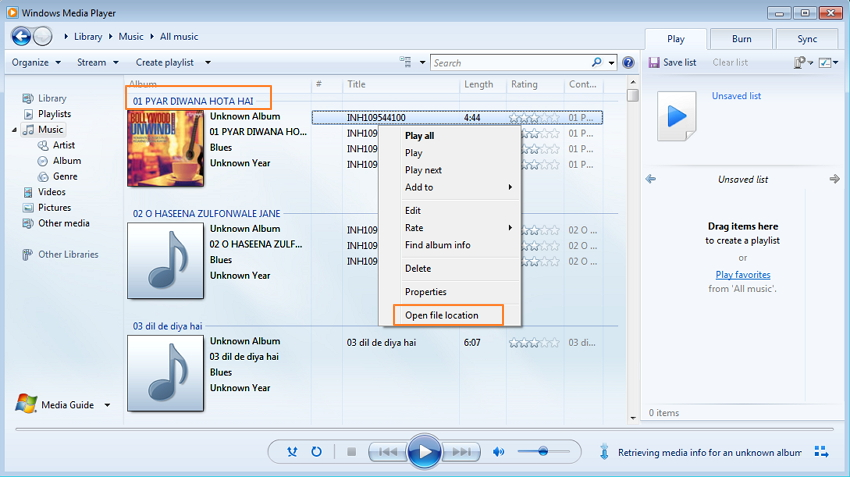 transfer music from Windows Media Player to iPod using TunesGo