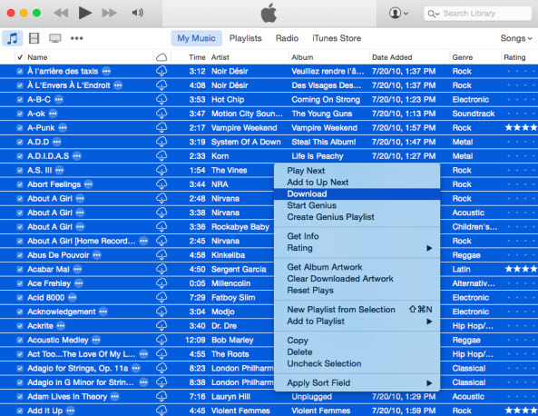 transfer itunes playlists to new computer-download these songs