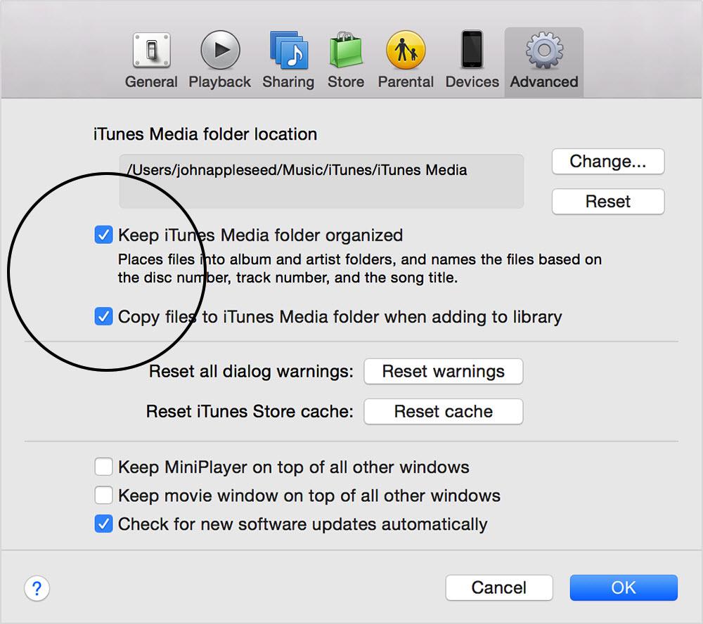 Copy files to iTunes Media folder