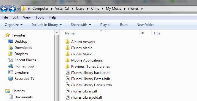 iTunes Bibliothek reparieren
