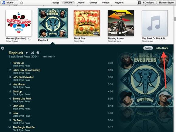 play iTunes Music on Nexus-iTunes_song_list