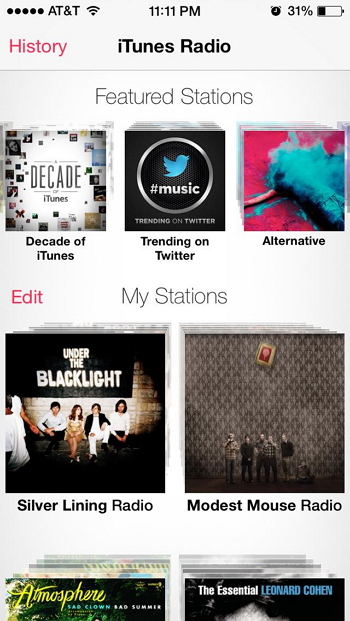 Top 5 iTunes widgets from yahoo-iTunes Radio Lover
