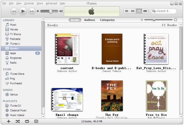 change ebooks cover via iTunes