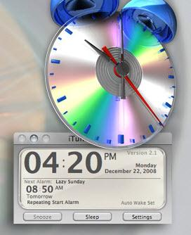 itunes alarm clock - for mac