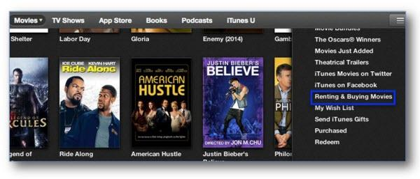 how to download an itune movie rental