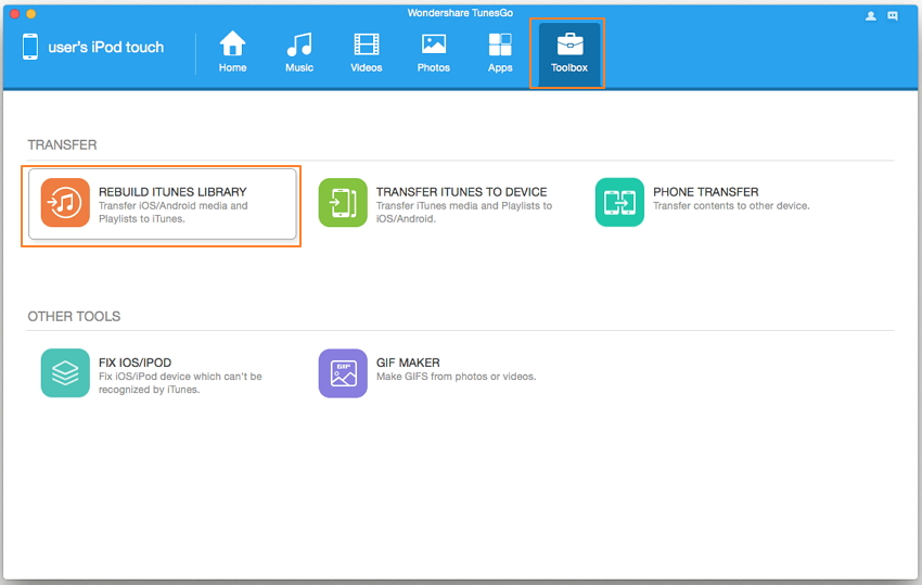 Musik vom iPod Touch zu iTunes übertragen - iTunes-Bibliothek neu aufbauen