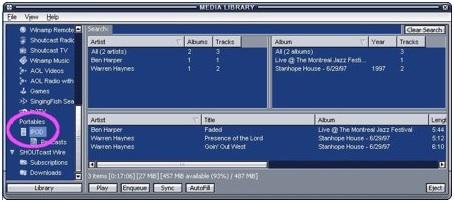 Musik von iTunes auf den iPod übertragen-Den iPod erkennen