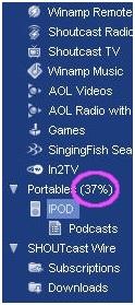 Musik von iTunes auf den iPod übertragen-Übertragung abgeschlossen