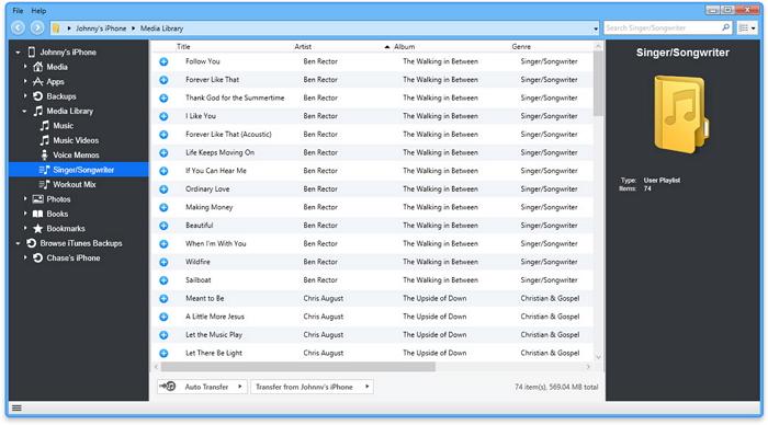 iPod-Playlisten auf iTunes übertragen - iExplorer