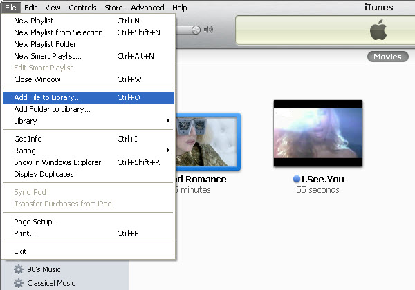 How to transfer music from ipod touch to itunes on Mac-Add file to library