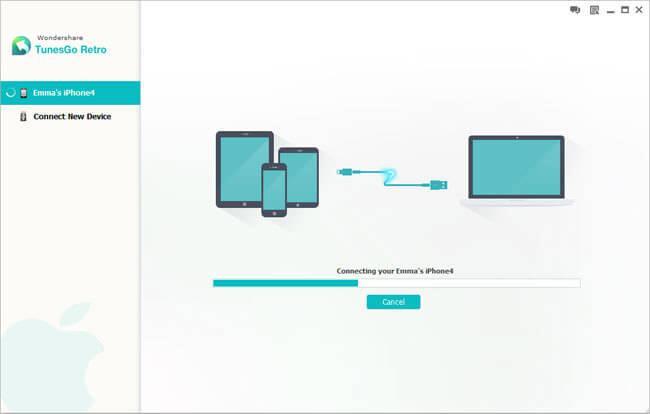 add music to ipod classic-launch TunesGo Retro