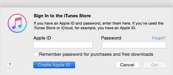 Sync music from ipod to itunes-login you apple id and code