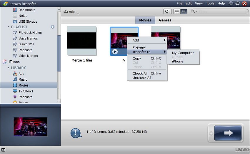 How to transfer files form ipod to itunes-Leawo itransfer