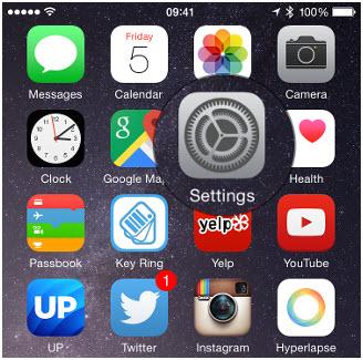 Musik vom iPod Touch zu iTunes übertragen - Einstellungen antippen