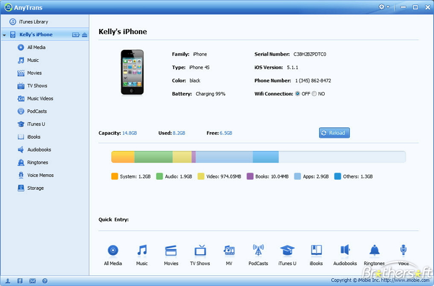 Musik vom iPod Touch zu iTunes übertragen - iMobile AnyTrans