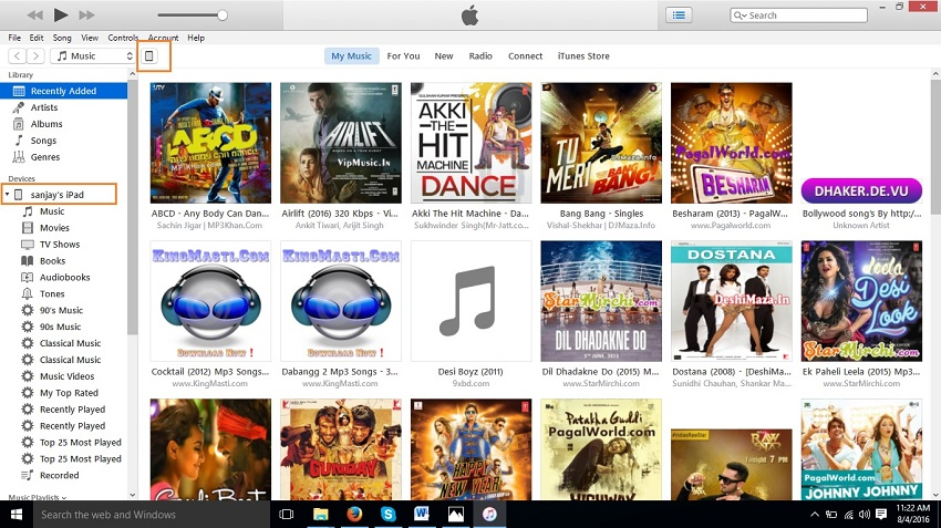 How to transfer songs from itunes to ipad-launch iTunes