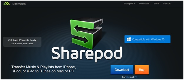 Transfer Music from iPhone to Mac by SharePod