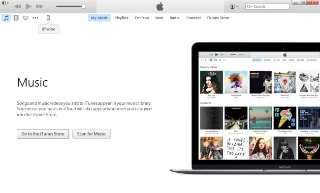 Transfer Music from iPod to Mac with iTunes-step 2