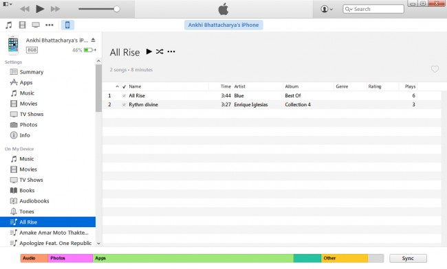 Transfer Music from iPod to Mac with iTunes-step 3