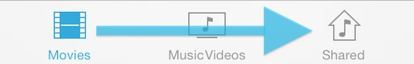 Put Music on iPhone without iTunes - Tap Shared Button