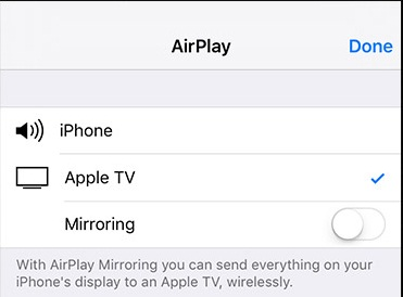 Put Music on iPhone without iTunes - Choose Airplay