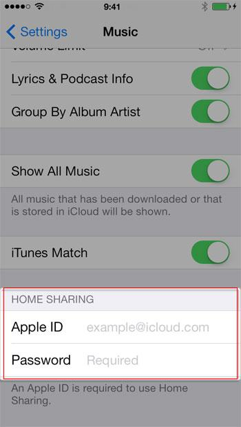 Transfer Music from Mac to iOS - using Home Sharing