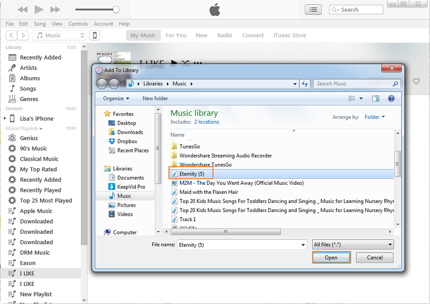 Transfer Music from PC to iPhone Manually Using iTunes
