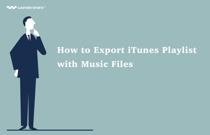 export itunes playlist with music files