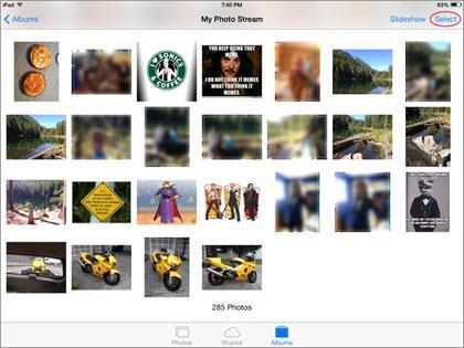 elimine fotos de iPad - Remueve manualmente fotos capturadas y fotos en Photo Stream del iPad