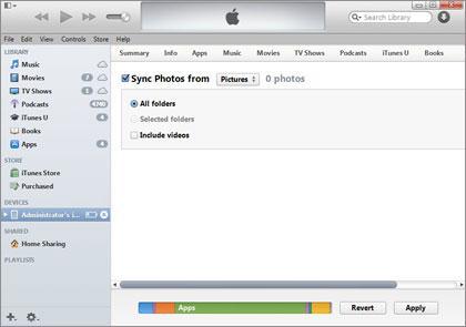 elimine fotos de iPad - con iTunes