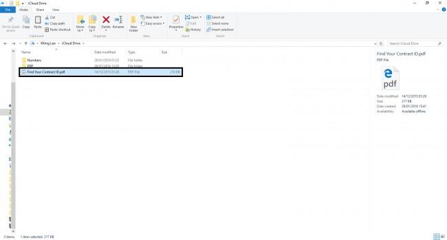 Transfiere archivos PDF desde la PC al iPad Usando iCloud - Arrastra y suelta los archivos PDF en la carpeta
