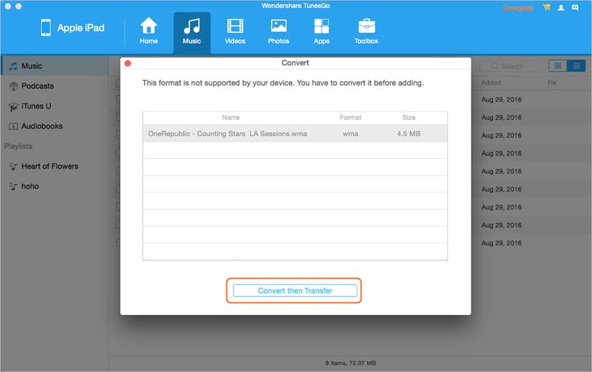 Transmitir Peliculas desde Mac hacia el iPad- Convierte luego Transfiere