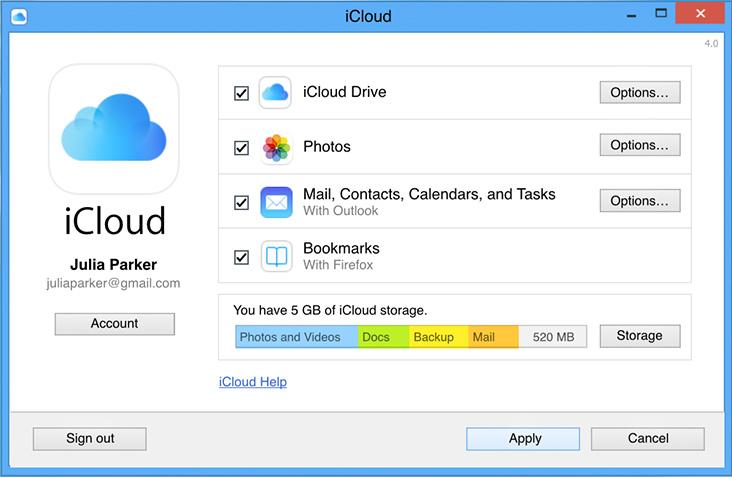 Transferir Notas del iPad al ordenador usando iCloud - Instala el Panel de Control de iCloud