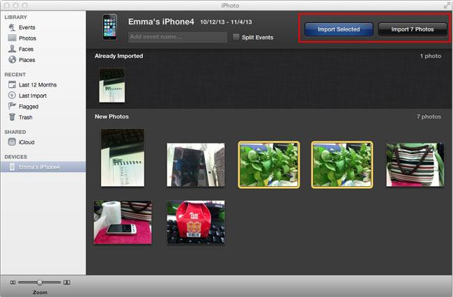 Transferir fotos desde iPad a Disco Duro Externo a través de iPhoto