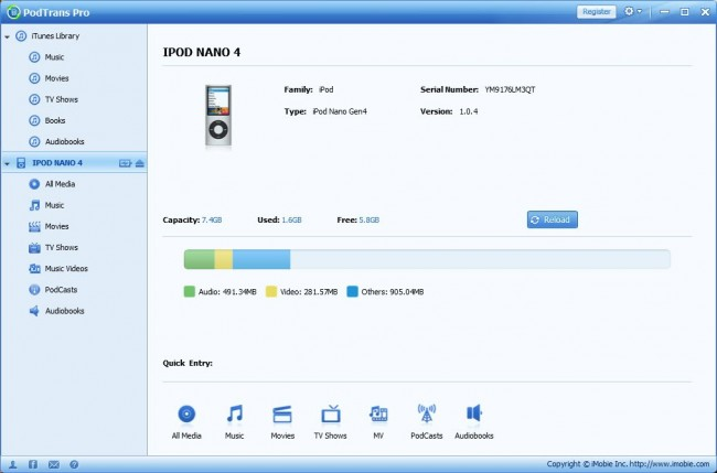 Transfer Books from iPad to Computer using Third-Party Apps- PodTrans Pro