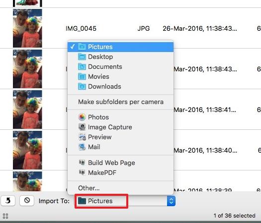 Transferir videos desde el iPad a la Mac con Image Capture - Selecciona iPad