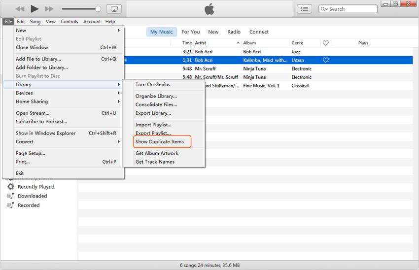 Eliminar canciones duplicadas en iPad - Eliminar canciones duplicadas en iTunes