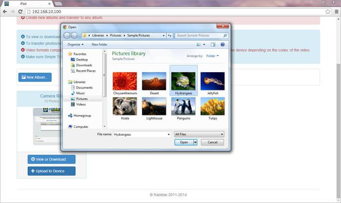 transfiere fotos desde el ordenador al ipad