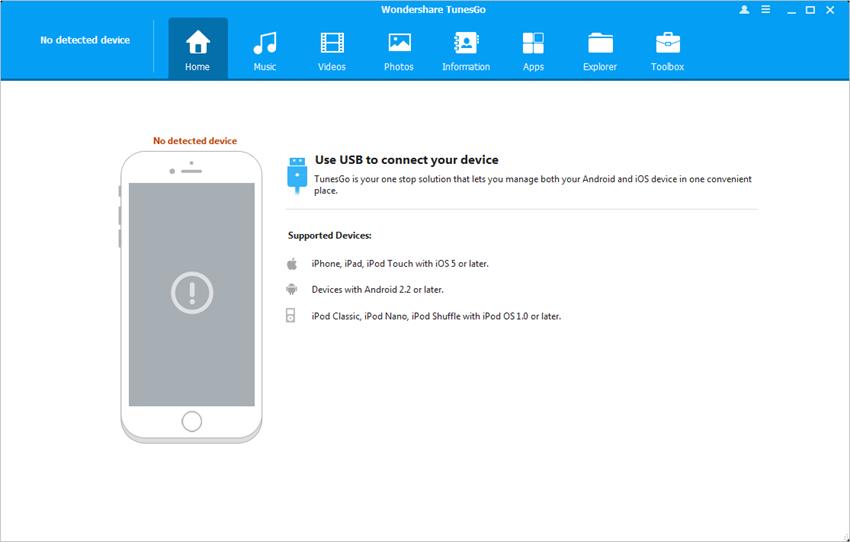Transferir videos desde el iPad a la Mac con TunesGo - Inicia TunesGo